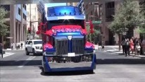 "Optimus Prime ""Custom Western Star 4900X"" On The Road"