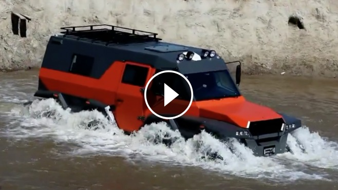 Russian Off Road Beast The Avtoros Shaman 8x8 Atv