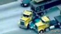 AMAZING! Truckers Stop High Speed Pursuit On Freeway