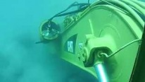 AMAZING! CAT Excavator Working Underwater