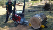 Check Out Whitlands Brutal Chainsaw Powered By A V8 Engine!