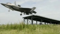 F-35B Doing a Ski Jump Launch for the First Time in History and Vertical Landing Demonstration
