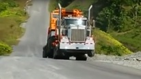 So Much Torque - Semi Truck Pulls Wheelie While Pulling a HUGE Load!