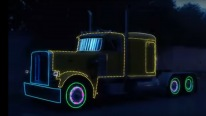FANTASTIC Animated Light Show on a Deisel Truck