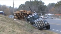How to Recovery Ditched Kenworth Log Truck Like a BOSS