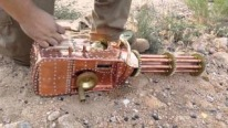 Very UNIQUE! Man Builds Functional Steampunk Gatling Gun