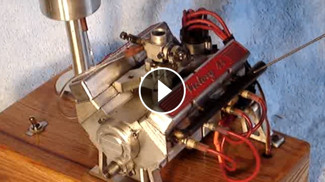 Officially The World S Smallest Running V8 Engine