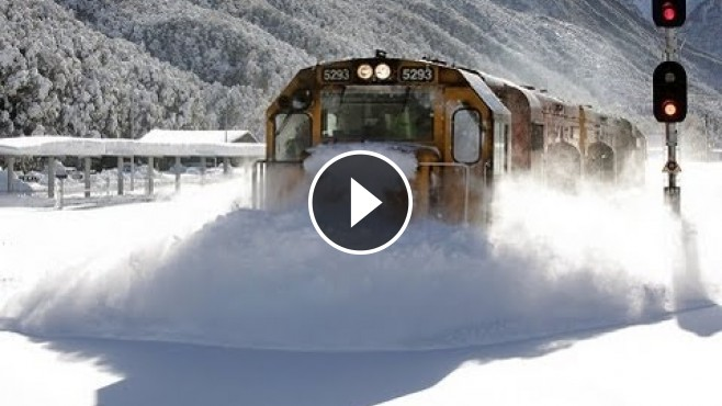 Incredible Footage Of A Speeding Train Plowing Through