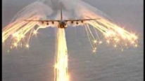 AMAZING! Lockheed C-130 Hercules Flare Test Looks like Angel of death!