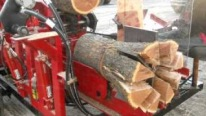 That is WICKED & COOL! Homemade Detroit Diesel Powered Firewood Processor