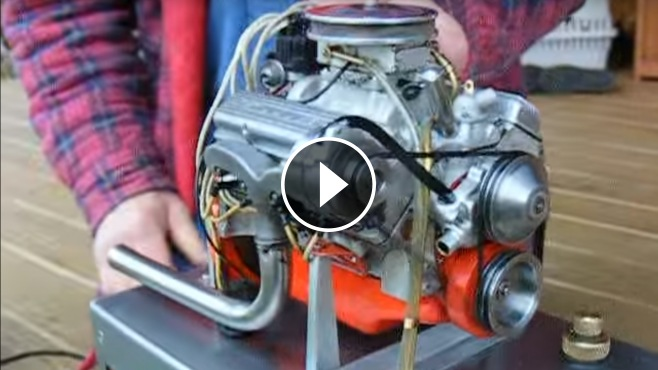 The World S Smallest Chevy 327 V8 Engine That Actually Runs