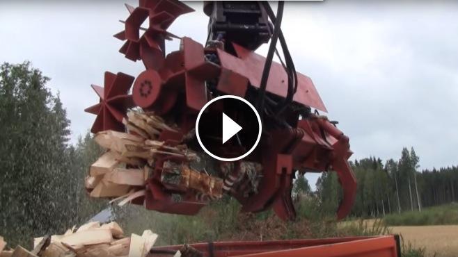 That S One Badass Machine Ramec Firewood Processor