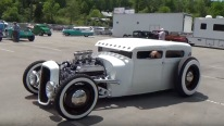 White on White! Striking 1929 Ford Hot Rod 'Big Booty Judy'