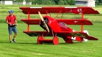 "That Is So BADASS! The Worlds Biggest RC Triplane ""Giant Fokker Dr. 1"""