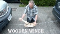 Impressive Work!!! How To Pull a Mini Van With Wooden Winch