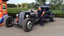 Outstanding! Hot Rod With a Detroit Diesel 16V-71 Engine
