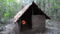 This Guy Build An Amazing Shelter In The Woods Using Only Dirt, Trees, And Rocks