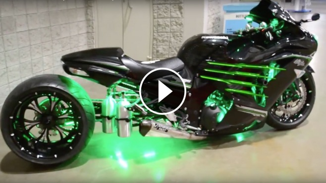 "Classic Muscle Cars For Sale >> That Is Wicked! Custom Kawasaki ZX14-R ""War Admiral"""