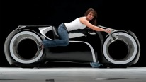 Futuristic Street-Legal Motorcycle! TRON BIKE From Parker Brothers CHOPPERS!