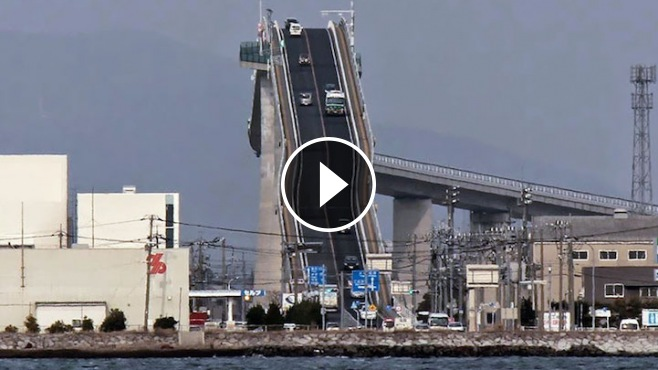 Japanese Car Brands >> Japan's Crazy Bridge - It Looks More Like A Rollercoaster ...