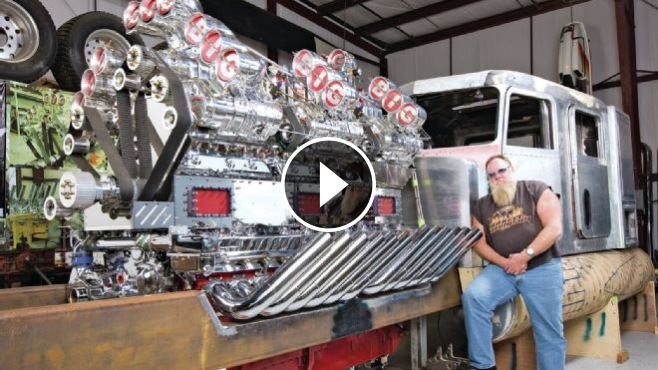 Custom 359 Peterbilt With A 24v71 Detroit Diesel And 12x6