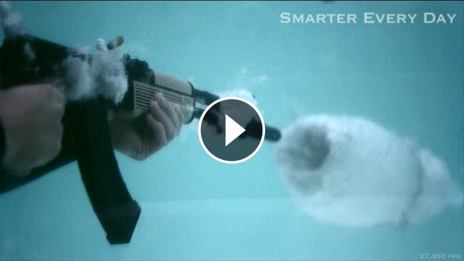 What A Great Explosion An Underwater Bullet In Super