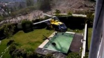 Mad Skillz!!! Helicopter Pilot Taking Water From Swimming Pool