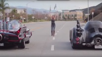 SUPER Cool Car Race! Batmobile 1989 Vs. Batmobile 1960