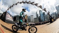 High Flying FMX Tricks in Hong Kong 2015