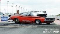 8 Sec Orange Cuda Sets the Road on Fire Global Drag Racing League