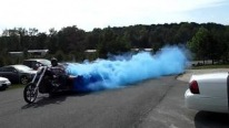 Chopper V8 Massive Blue Smoke Burn Out