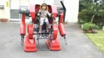 Ingenious Little Boy Drives a Cute Robot