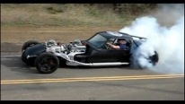 Chevy V16 Hot Rod (Twin V8) Doing a Burnout