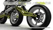 French Designer Julien Rondinaud's ThreeWheels Motorcycle Concept