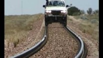 Adventurous Car Driving On The Rails of Australia