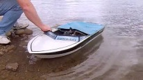 RC CWR one BIG RC boat 1/5 scale ish custom built Harbercraft