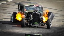 The FLAMETHROWER RAT ROD - Epic Drift Show