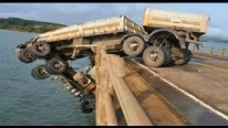 Shocking Truck Accident In The Water Bridge