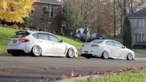 White on White - Mitsubishi Lancer Ralliart & Subaru Impreza WRX STI