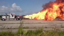 A 12,000 hp Flame-Throwing Jet Truck