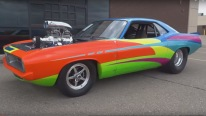 Awesome 74 Plymouth Barracuda Pro-Street V8