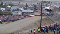 World record semi truck jump! 166 feet