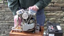 AWESOME Scale Running Model of Harley Engine