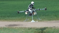 Manned Tricopter Concept Hovers And Maneuvers In Flight