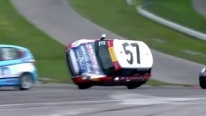 Mini Cooper Roll-over - Pirelli World Challenge Round 5