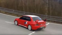 UPHILL DRIFTiNG ON A PUBLIC ROAD with 800 HP Mitsubishi Lancer Evolution