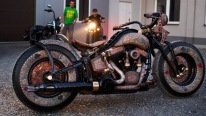 World's first tattooed motorcycle! Custom Harley Covered in Real Skin Tattoos