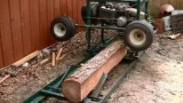 Home Made Sawmill Made From An Old Golf Cart - Works Great!