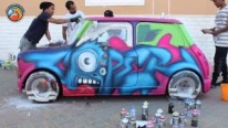 AWESOME Grafitti on a Mini Cooper