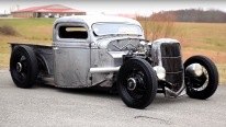 One of the best looking trucks! CHOPPED Bare Metal '35 FORD Pickup